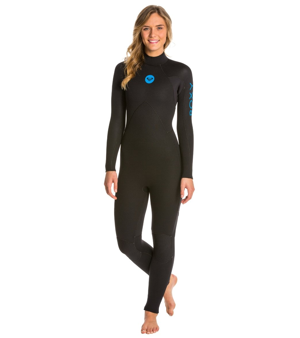 Roxy Women s 5 4 3mm Syncro Base Back Zip Full Suit Wetsuit at ... e6c5dbd75