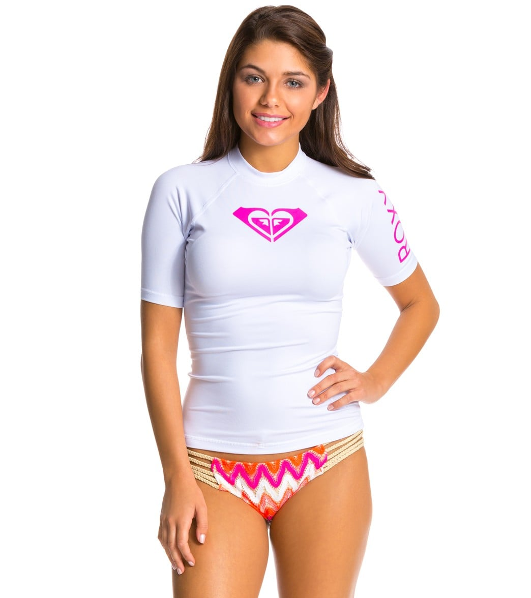 f21ac13c18 Roxy Women's Whole Hearted Short Sleeve Rashguard at SwimOutlet.com