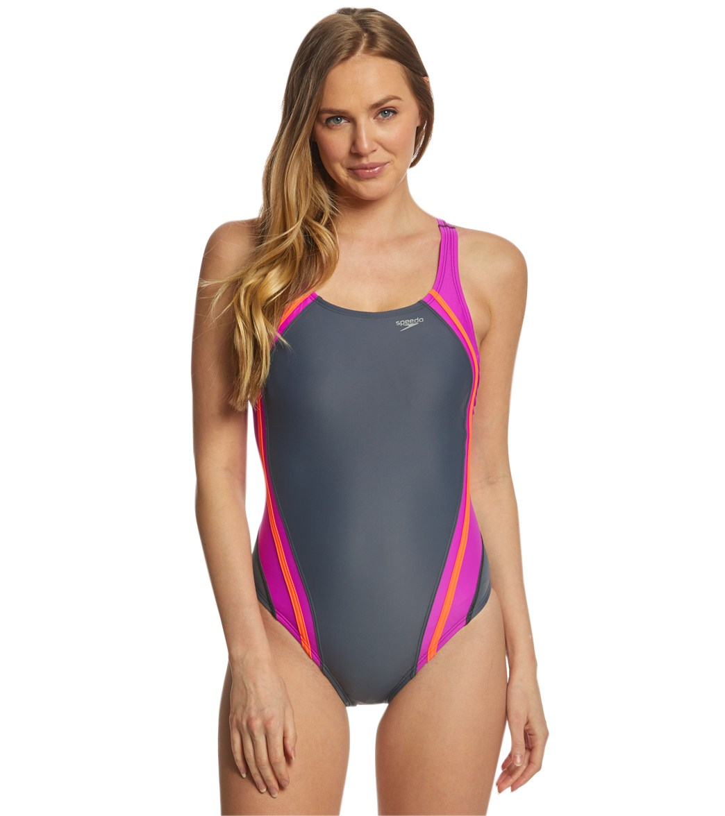 464543d50e9f3 Speedo Women's Quantum Splice One Piece Swimsuit at SwimOutlet.com - Free  Shipping