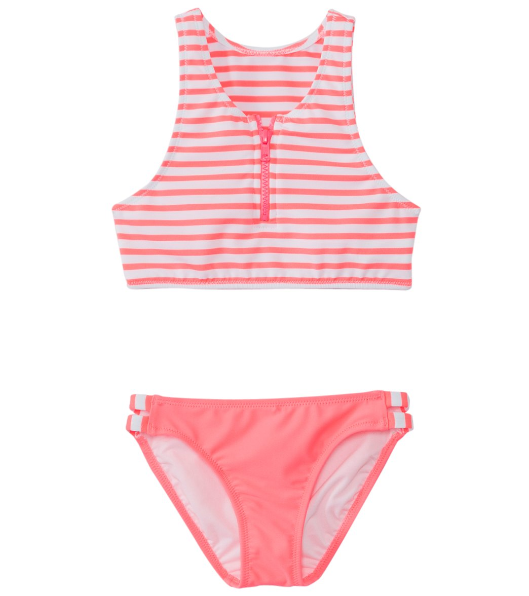 6e93401d5f43a Seafolly Girls  Tropical Splice High Neck Tankini Two Piece Set (6yrs ...