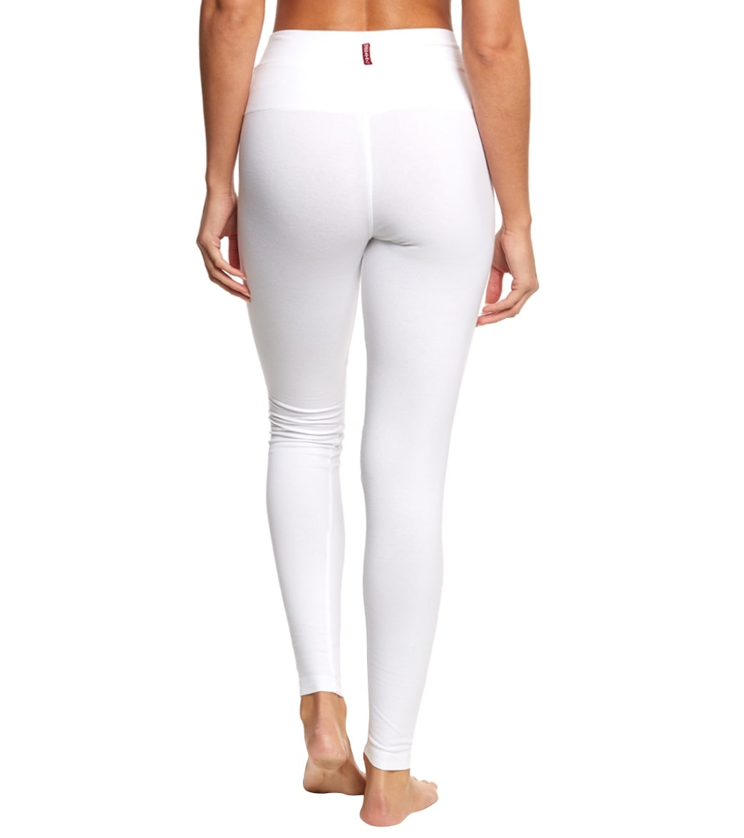 de2bfc694ef Hard Tail High Waisted Cotton Ankle Yoga Leggings at YogaOutlet.com ...