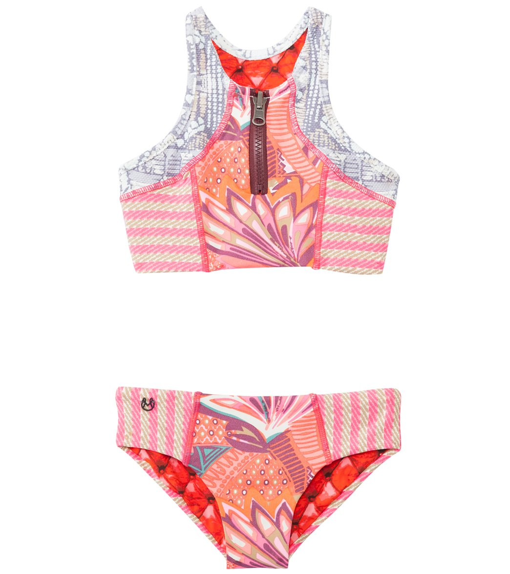 7a37e47a47316 Maaji Girls' Cinnamon Surfer High Neck Two Piece (2T-16) at SwimOutlet.com  - Free Shipping