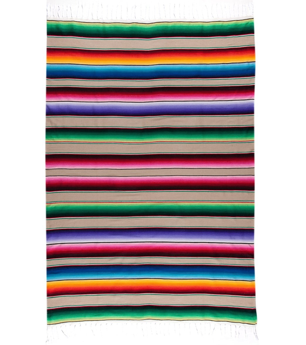 Native Large Mexican Serape Blanket at YogaOutlet.com