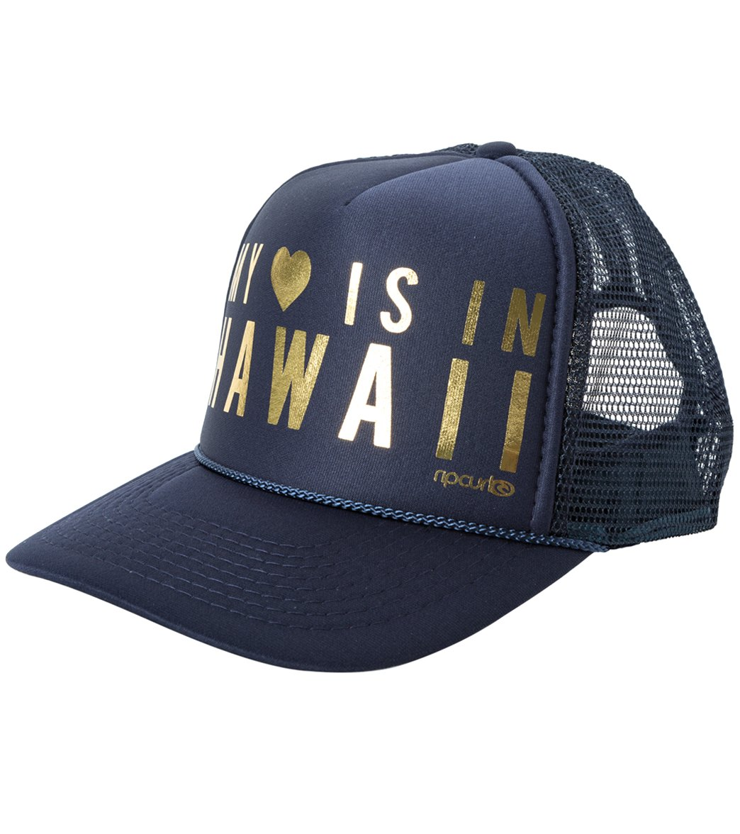 Rip Curl Hawaiian Heart Trucker Hat At Swimoutlet. Hawaiian Force Kalo  Front Snapback 7a6af3639b1e