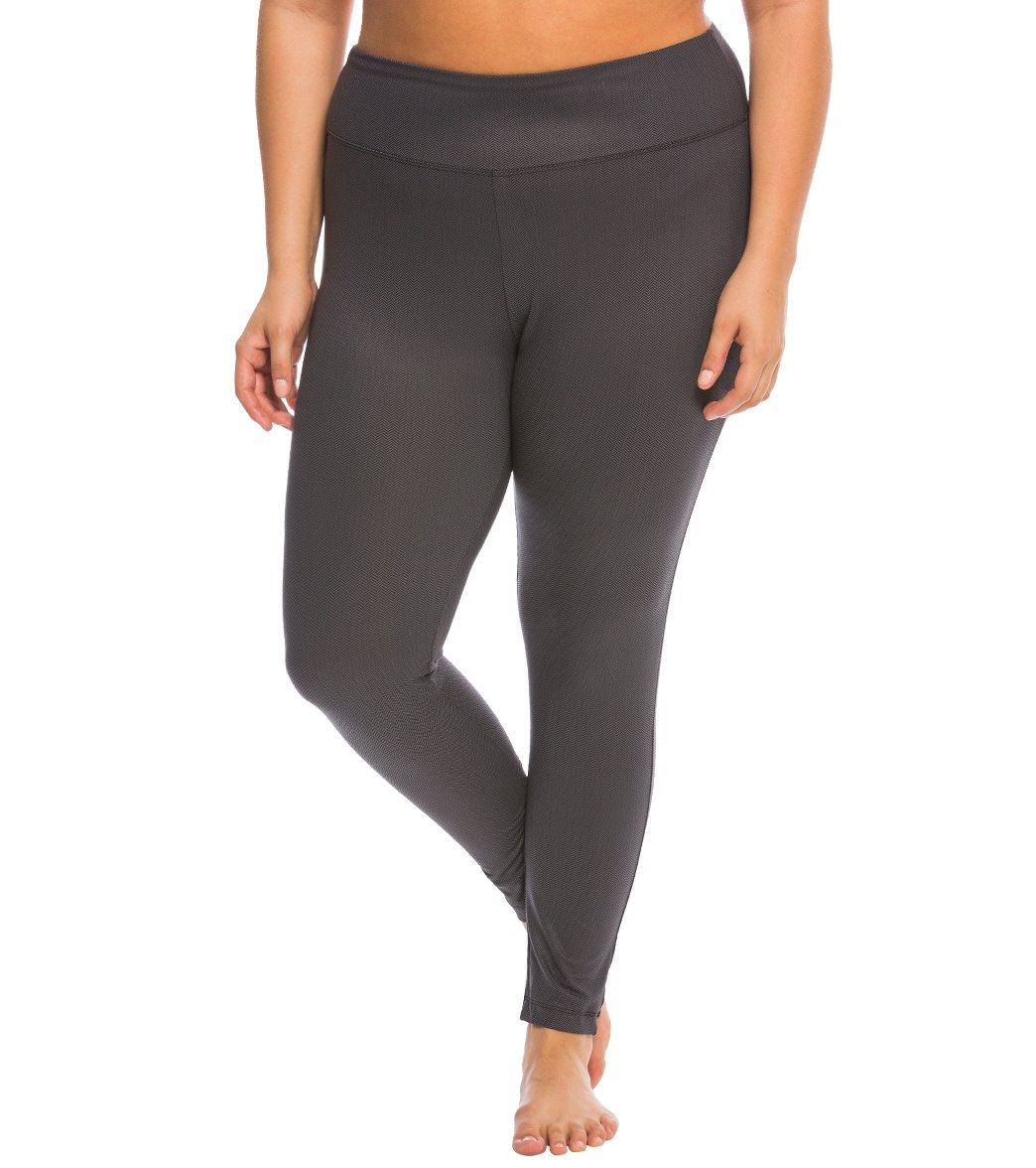 c41f1381495 Marika Plus Size Printed Flat Waist Yoga Leggings at SwimOutlet.com