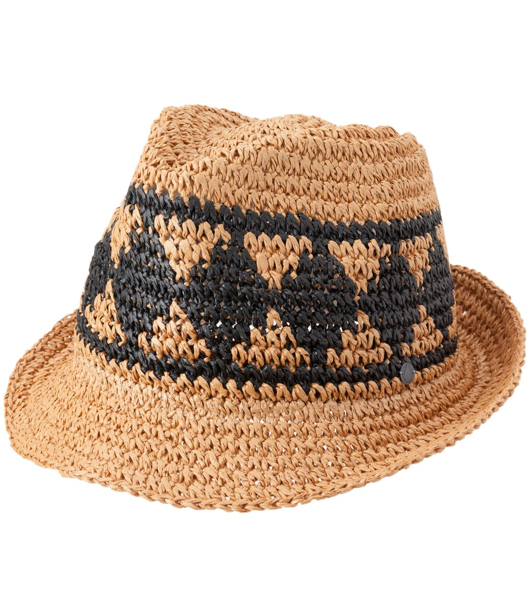 734fc5330e608 Volcom Ibiza Straw Fedora at SwimOutlet.com