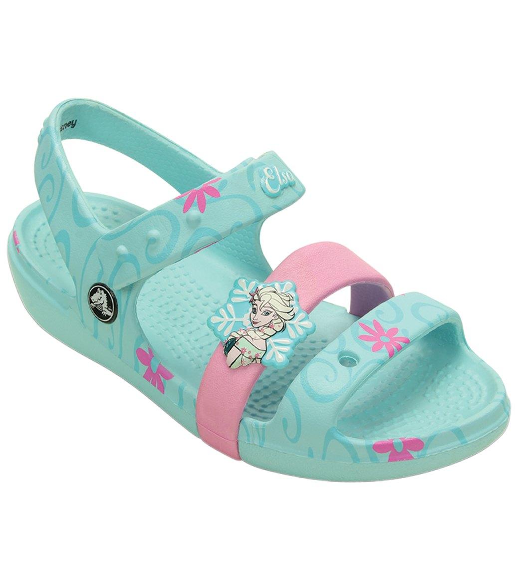 Crocs Girls  Keeley Frozen Fever Sandal (Toddler  Little Kid  Big Kid ... a50da23a5b