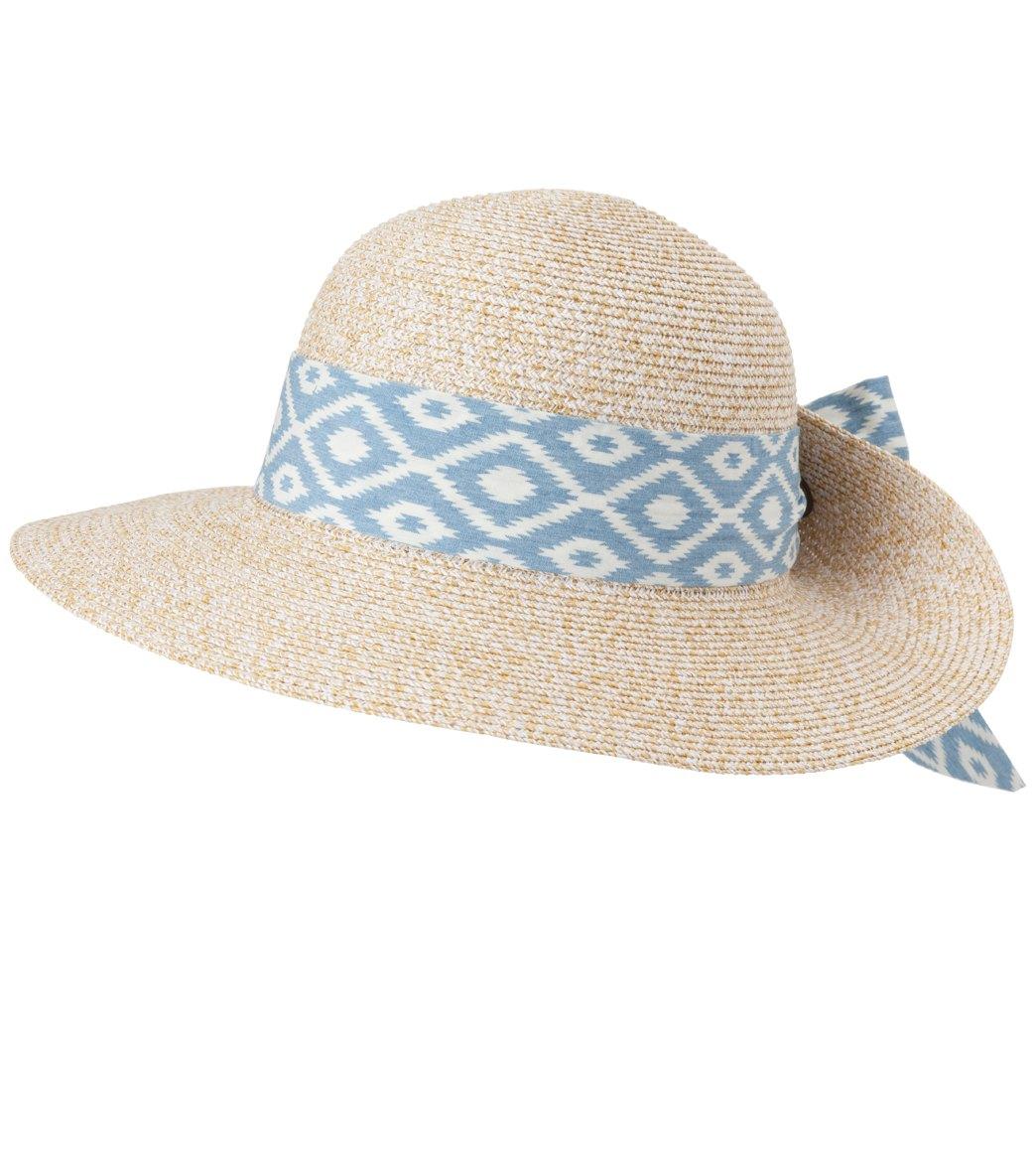 32ec7526 Sun N Sand Women's Paper Braid Blue Stone Hat at SwimOutlet.com