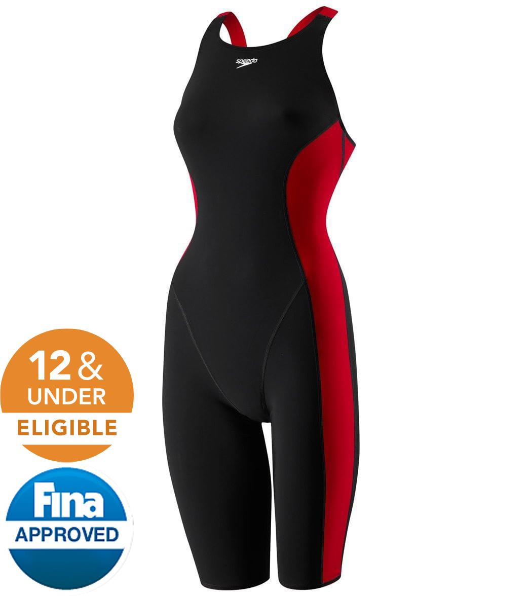 3919517cff8 Speedo Powerplus Youth Kneeskin Tech Suit Swimsuit at SwimOutlet.com - Free  Shipping