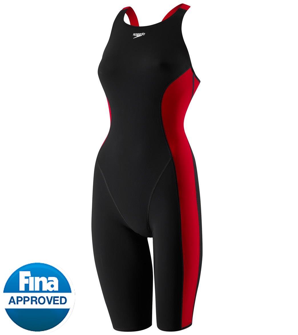 Speedo Women's Powerplus Kneeskin Tech Suit Swimsuit at