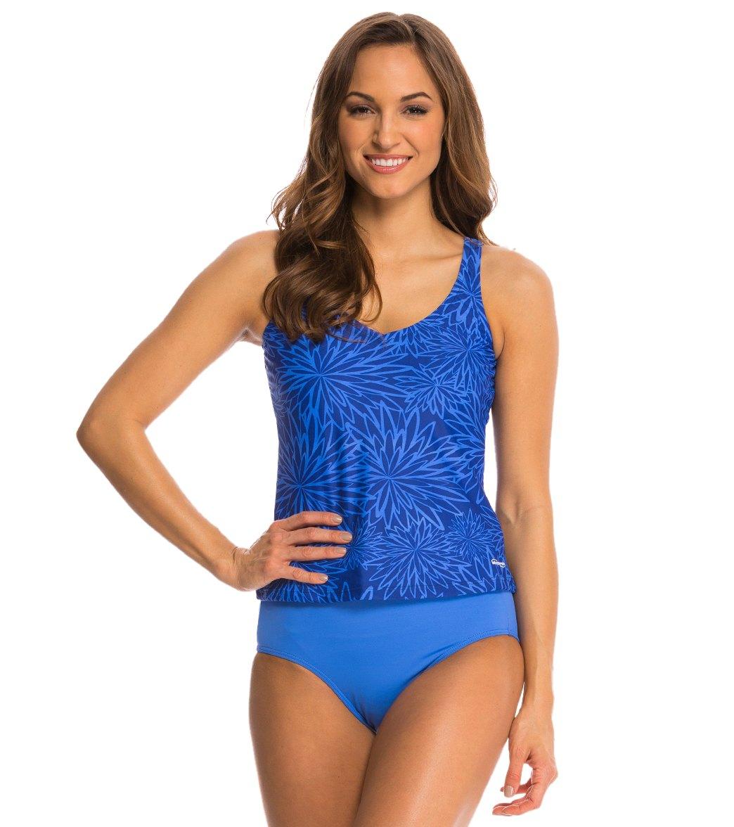 7914e57e19f71 Waterpro Dahlia High Back Tankini Swim Top at SwimOutlet.com