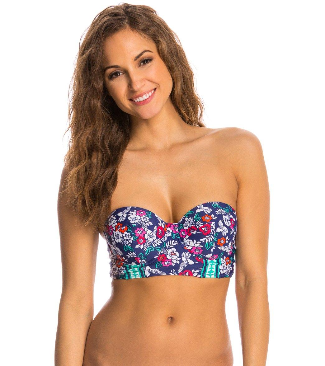 e47f32f40d Profile Blush Hummingbird Underwire Foam Bustier Bikini Top (D E F Cup)