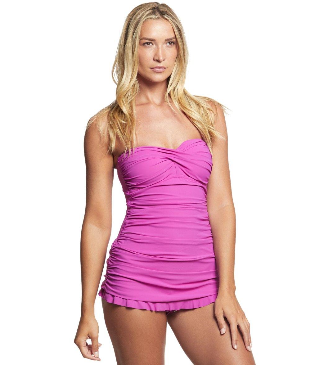 ab97effab4004 Profile by Gottex Tutti Frutti Bandeau Swim Dress at SwimOutlet.com - Free  Shipping