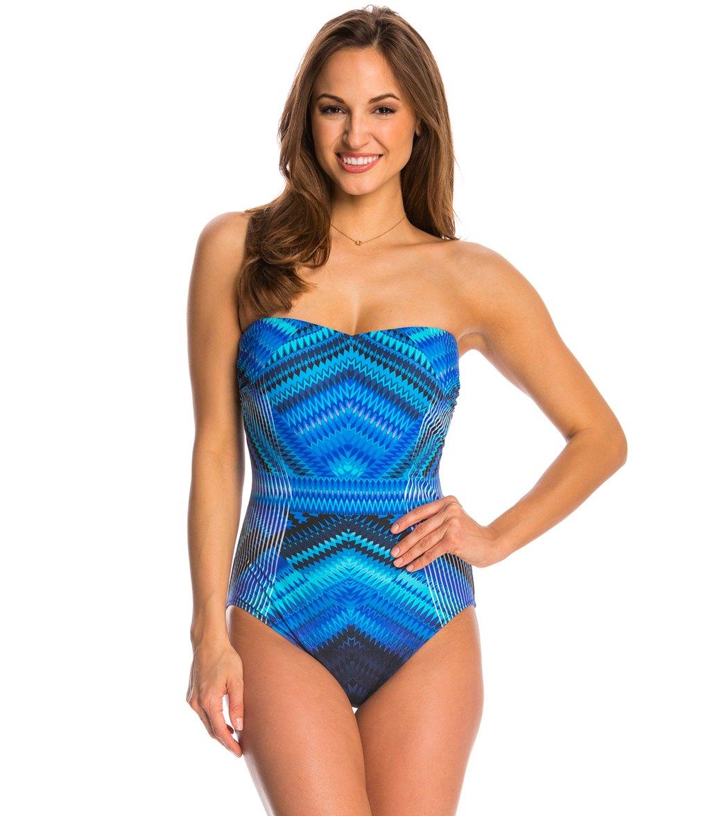 b7a45132c56a9 Gottex Venice Bandeau One Piece Swimsuit at SwimOutlet.com - Free ...