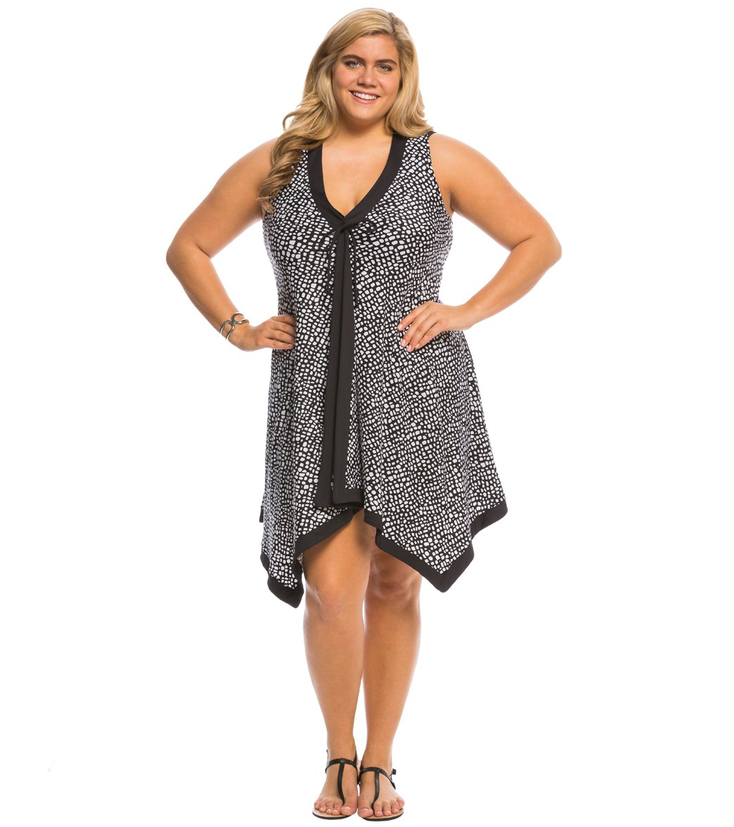 plus size swim cover up dress choice image - dresses design ideas