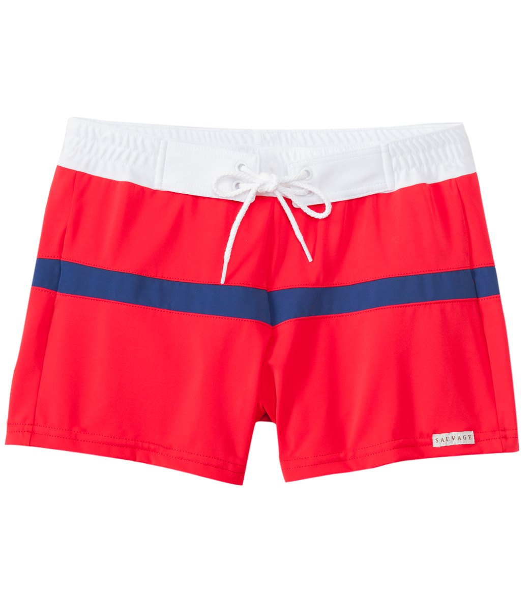 4a446cf7f3b6e Sauvage Color Spliced Sports Trunk at SwimOutlet.com - Free Shipping