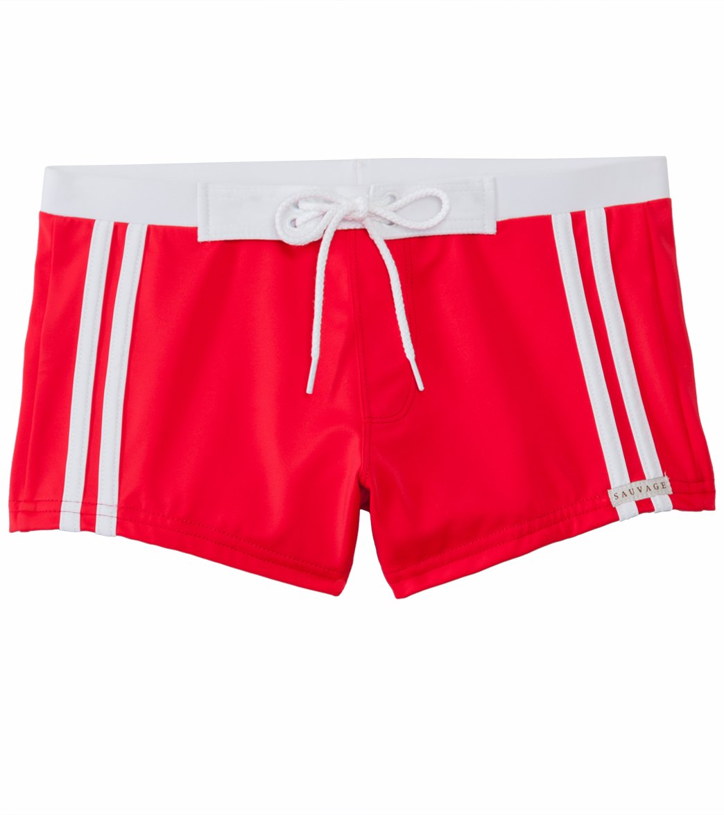 a7cdebf834 Sauvage Riviera Athletic Fit Swim Trunk at SwimOutlet.com - Free Shipping