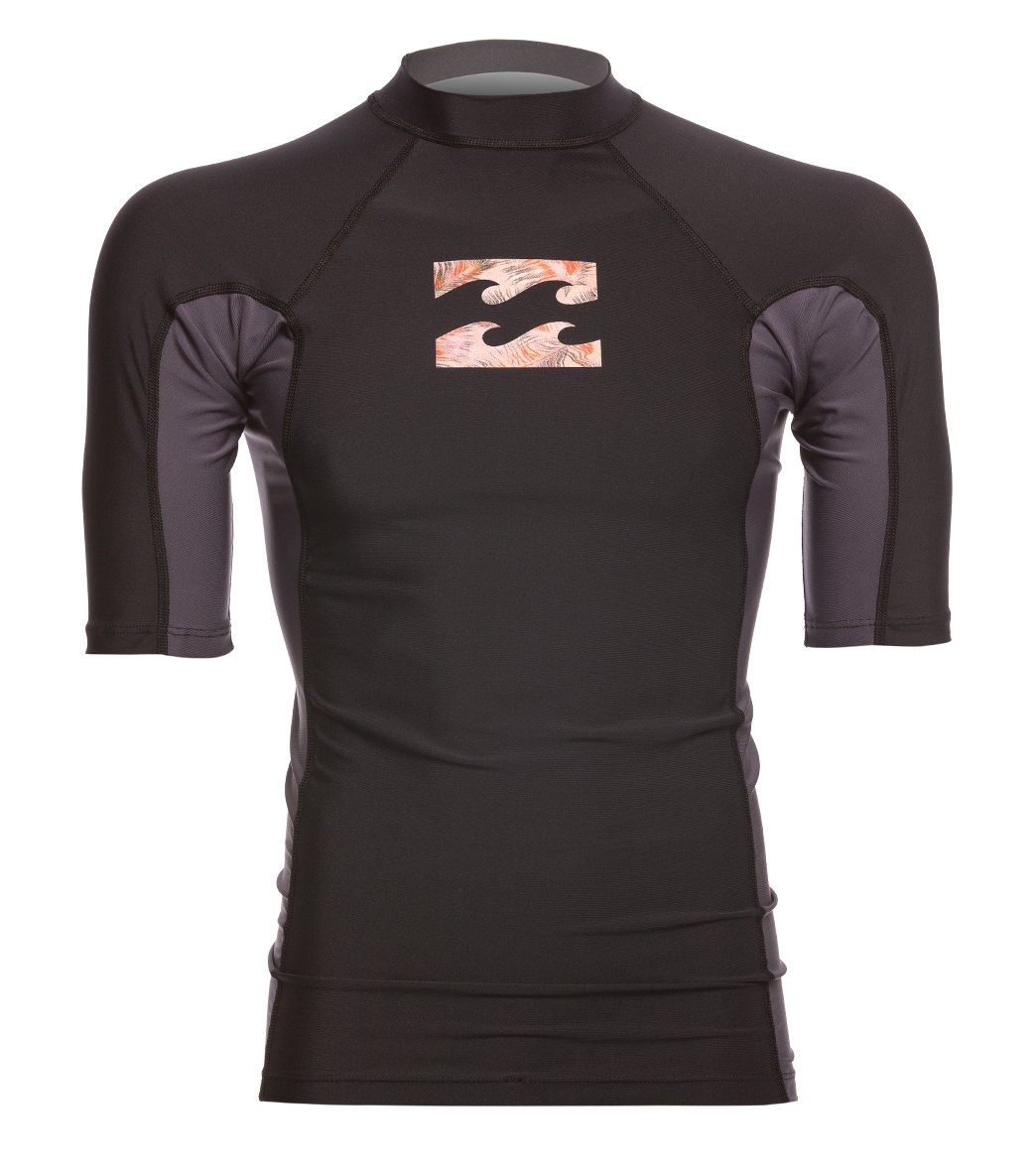 1d6cf0ea54 Billabong Men's Iconic Short Sleeve Rash Guard at SwimOutlet.com