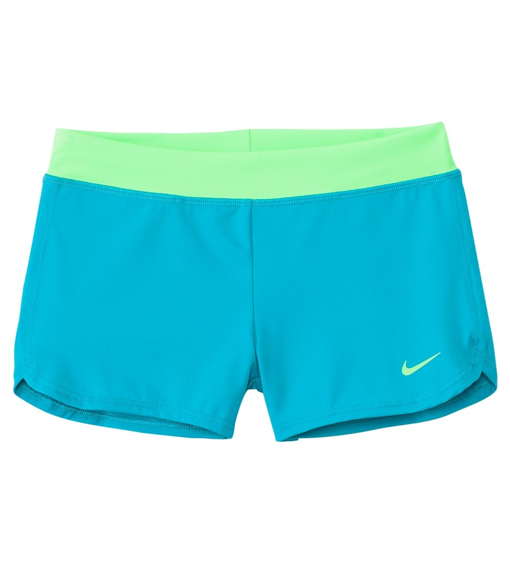 fbfe9d1a4a92f Nike Swimwear Girls' Swim Short Cover Up (7yrs-14yrs) at SwimOutlet.com