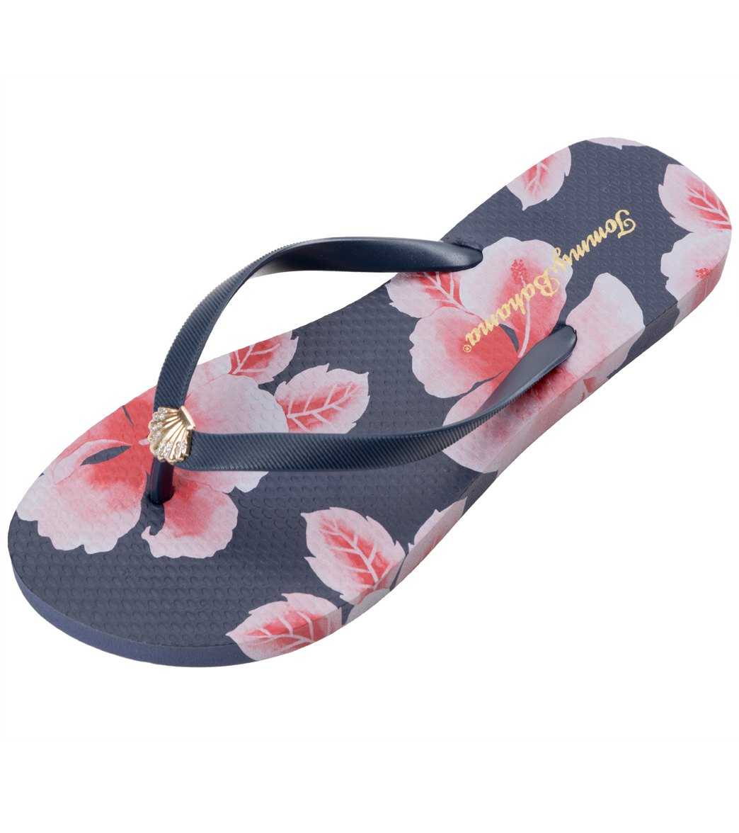 cb819795377a47 Tommy Bahama Women s Whykiki Floating Hibiscus Flip Flop at ...