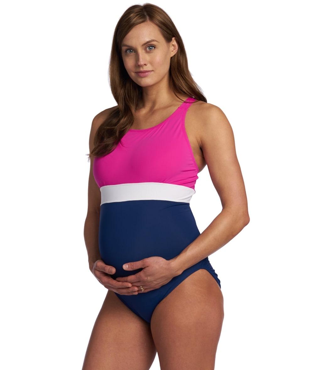 ed603b4cd9c78 EQ Swimwear Banded Harmony Maternity One Piece Swimsuit at ...