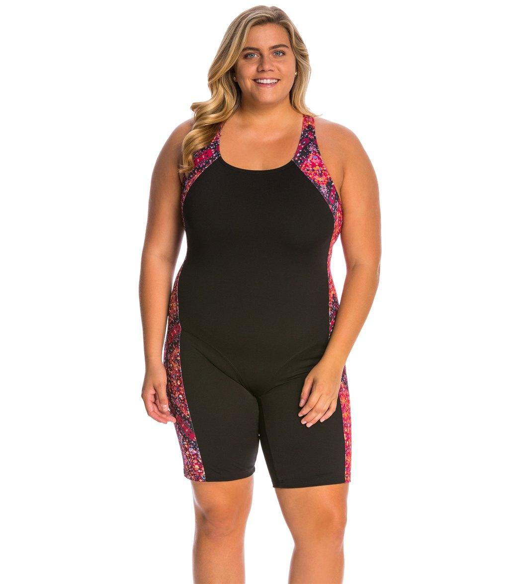 62a9f514157 EQ Swimwear Plus Size Glide Unitard Swimsuit at SwimOutlet.com - Free  Shipping