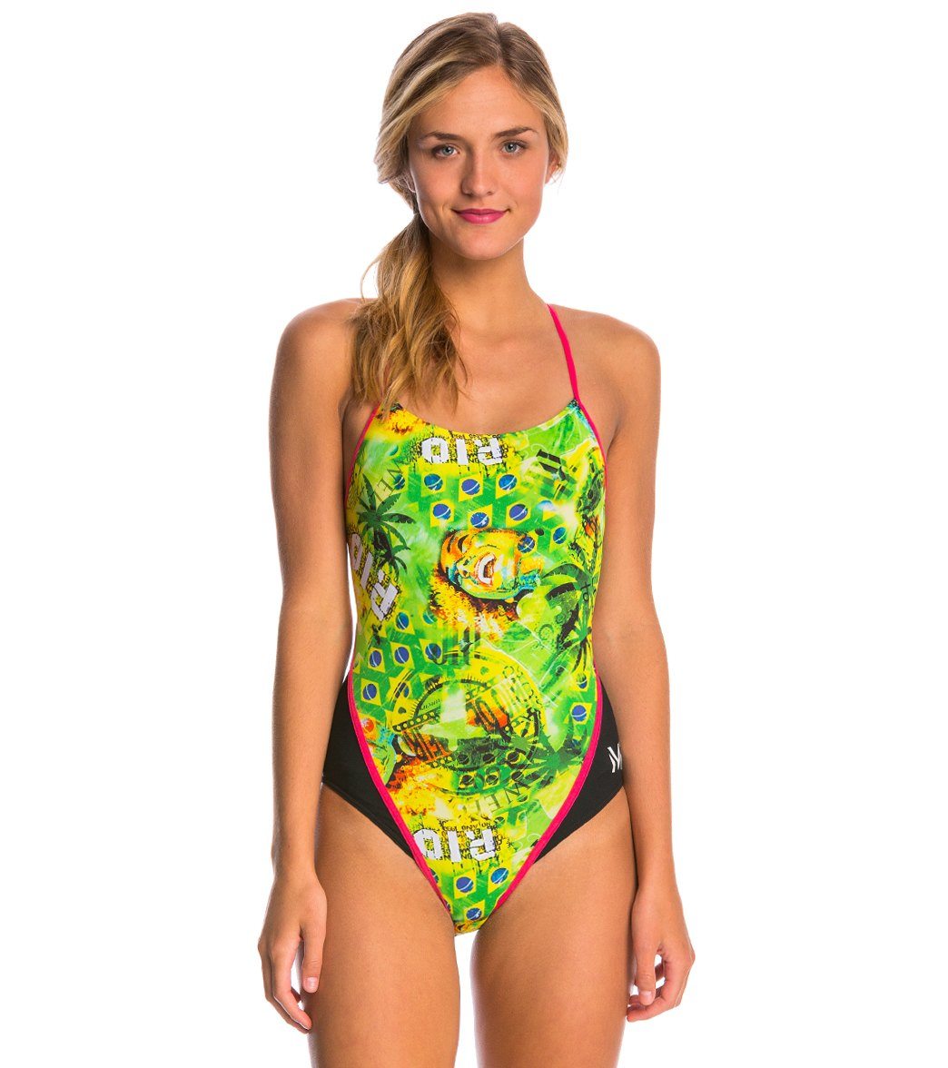 efb0f767f5 MP Michael Phelps Corco Racerback One Piece Swimsuit at SwimOutlet.com -  Free Shipping