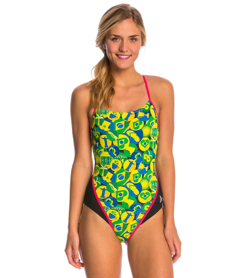 426879d607de2 MP Michael Phelps Carimbo Racerback One Piece Swimsuit at SwimOutlet.com -  Free Shipping