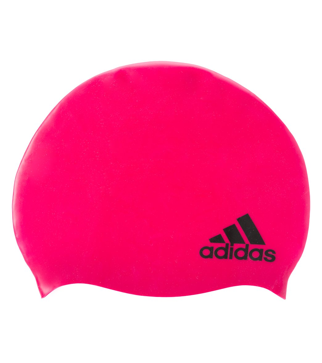 62502945 Adidas Youth Silicone Logo Cap at SwimOutlet.com