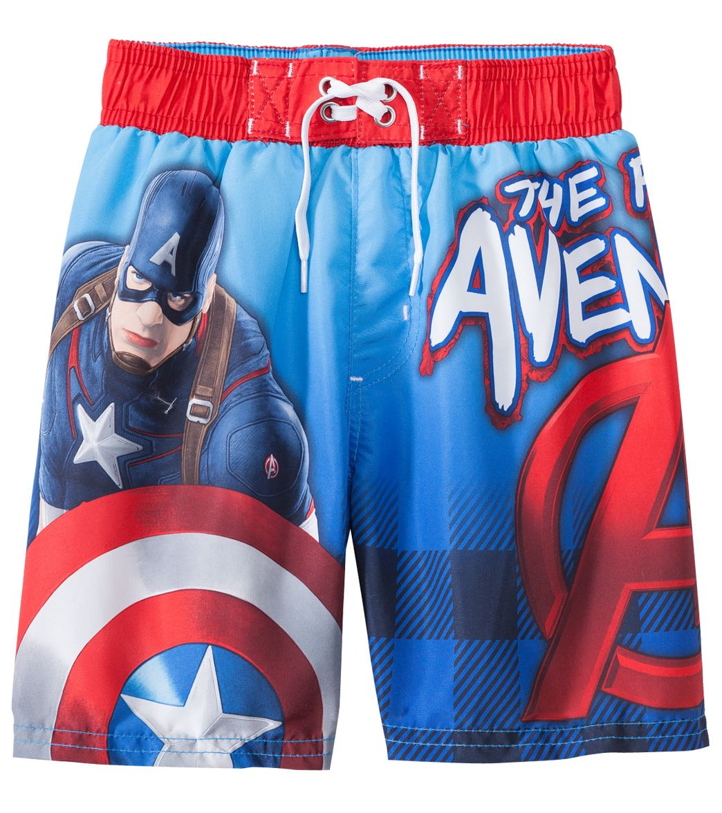 5a2c5f3527 C-Life Boys' Captain America Boardshort (4yrs-12yrs) at SwimOutlet.com