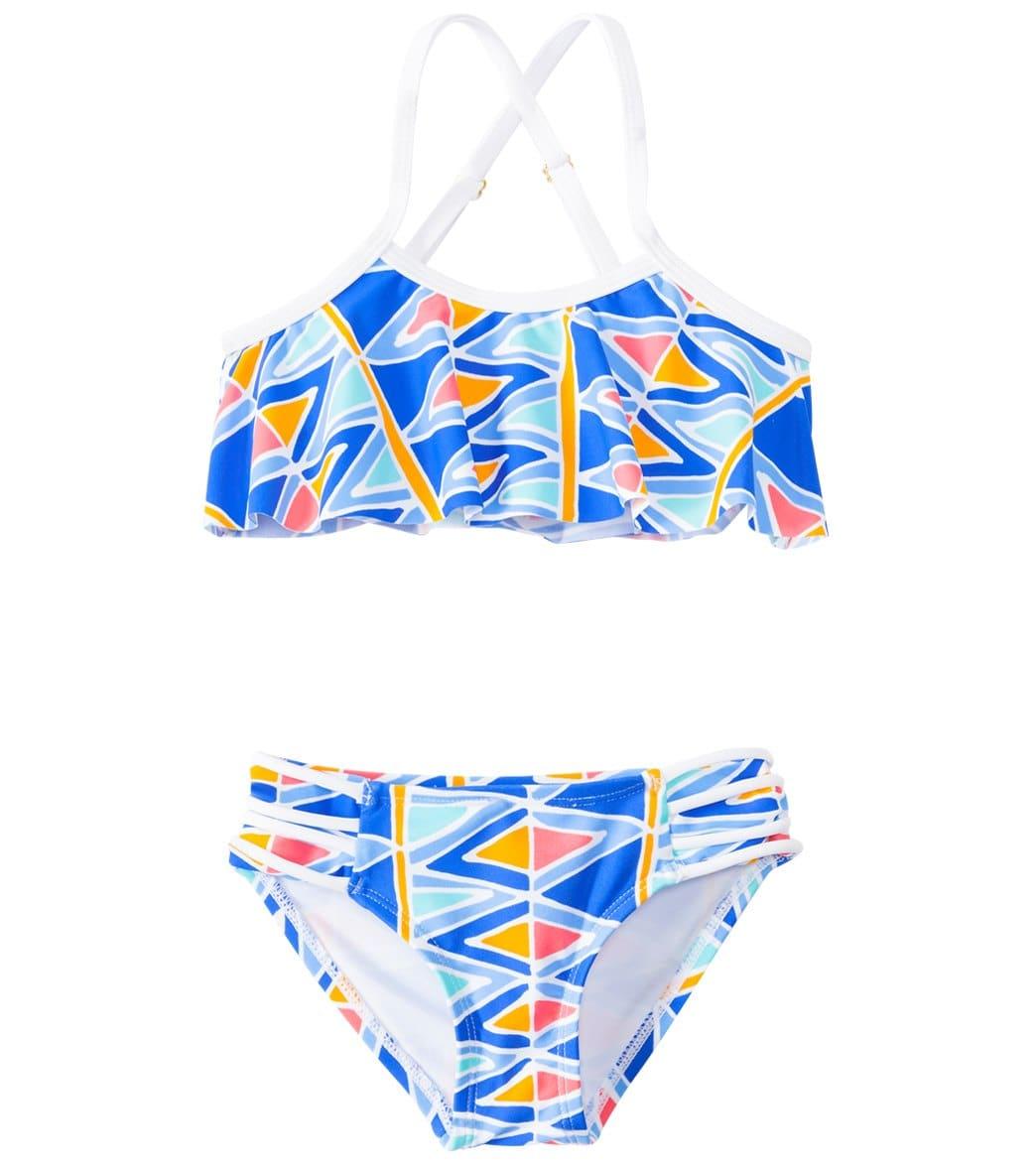 188c57e102ead Raisins Girls' Tulum Dreamin' Flounce Ruffle Two Piece Bikini Set (4yrs-6X)  at SwimOutlet.com