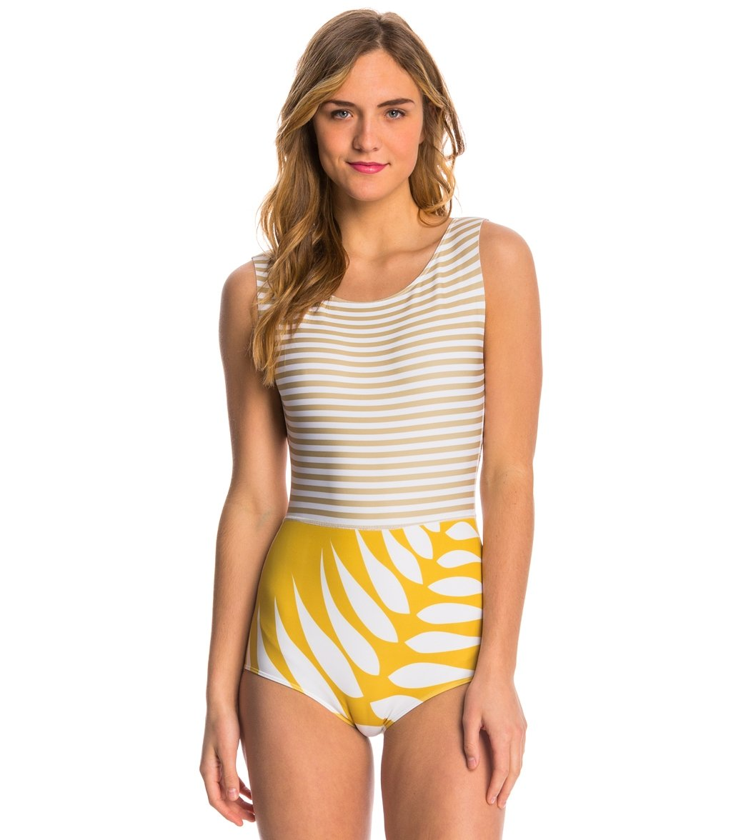 497b0379cab96 Seea Gold Leaf Lido One Piece Swimsuit at SwimOutlet.com - Free ...