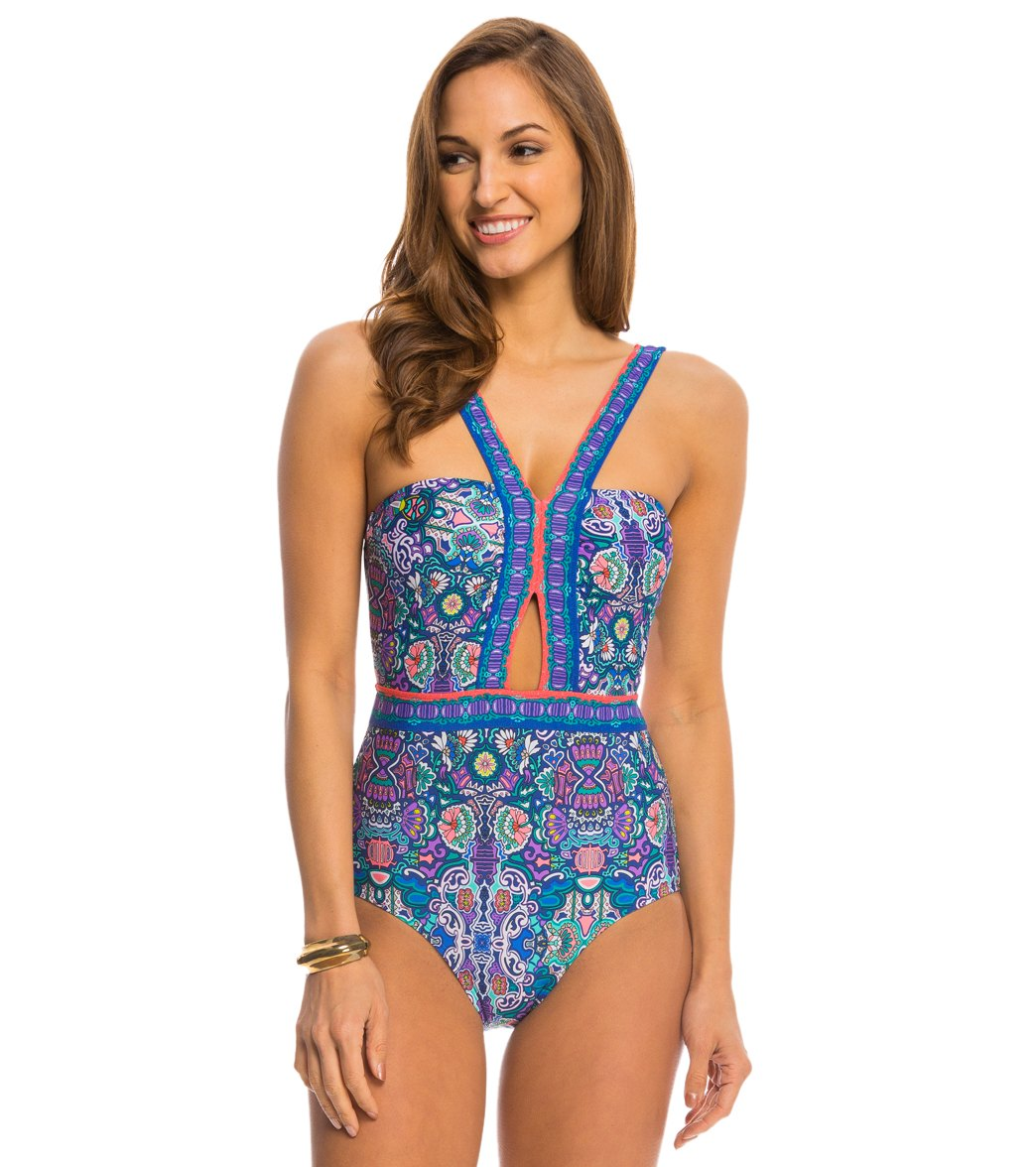 0ae402e56b ... Pretty Partridge Cut Out One Piece Swimsuit. Play Video. MODEL  MEASUREMENTS