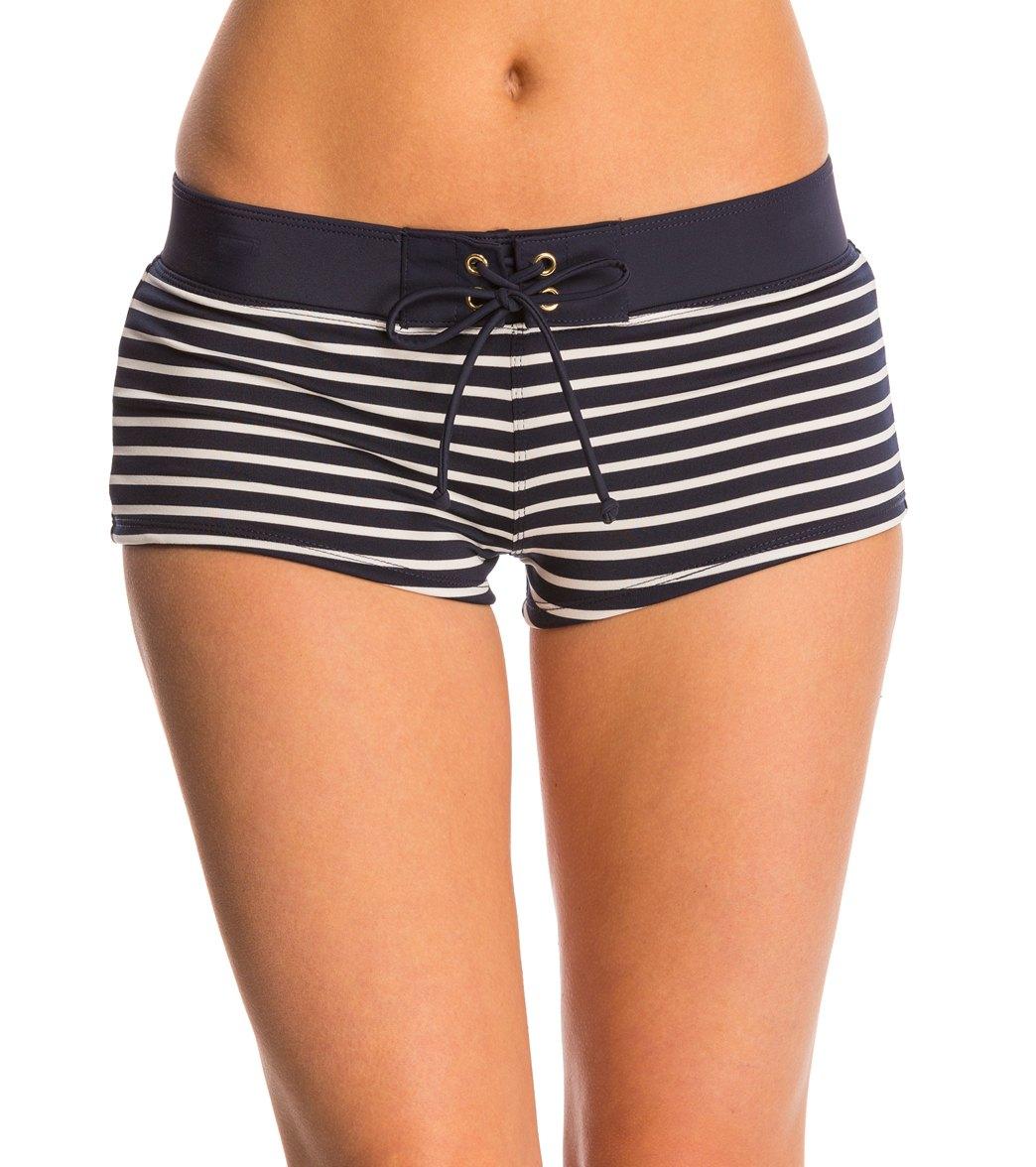 eef6c24418 Tommy Hilfiger Swimwear Sailing Stripes Boyshort Bikini Bottom at  SwimOutlet.com - Free Shipping