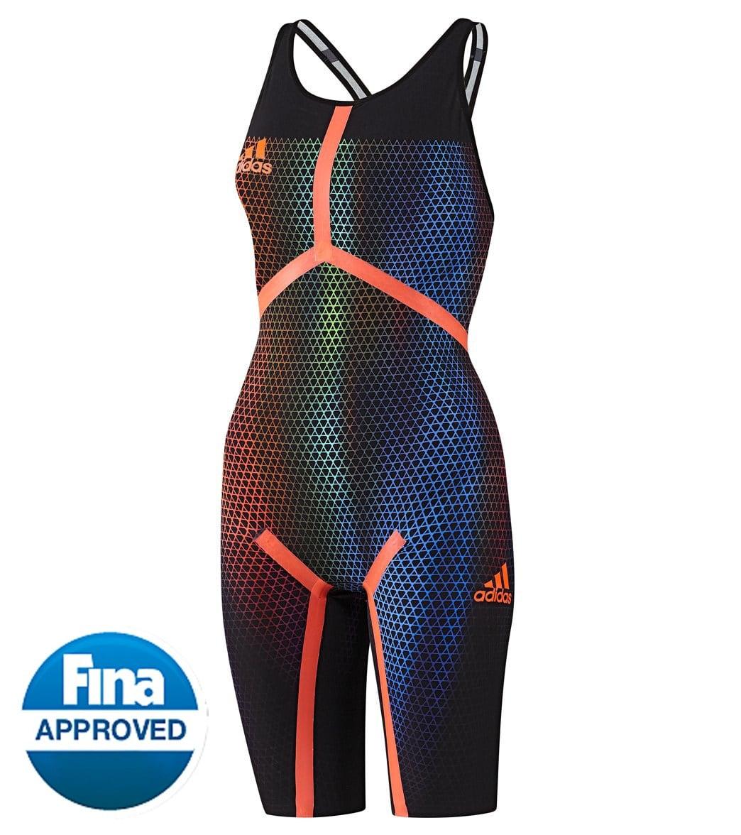 juguete factible puede  Adidas Women's Adizero XVI Open Back Kneeskin Tech Suit Swimsuit ...
