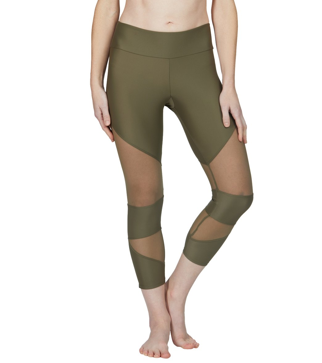 aabe06deb0c49 Onzie Cut Out Yoga Capris at SwimOutlet.com - Free Shipping
