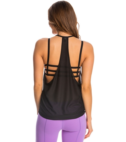 Onzie T-Back Mesh Yoga Tank Top At YogaOutlet.com