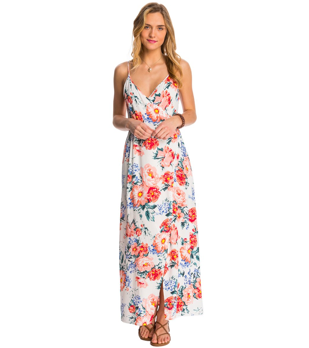 661bea81d7a MINKPINK Little Blooms Maxi Wrap Dress at SwimOutlet.com - Free Shipping