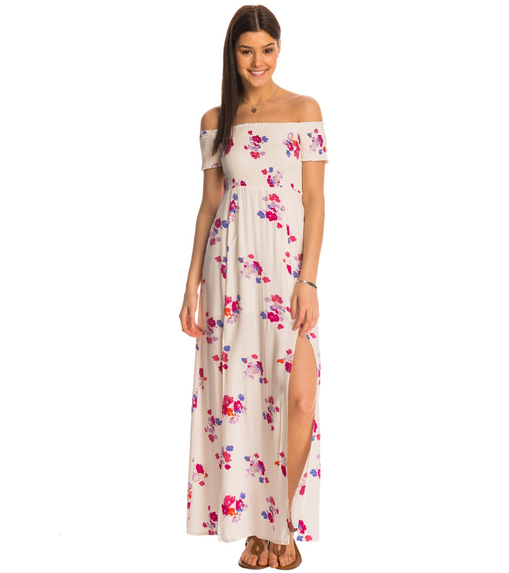 df3993e2b65 MINKPINK Falling Blooms Off Shoulder Maxi Dress at SwimOutlet.com ...