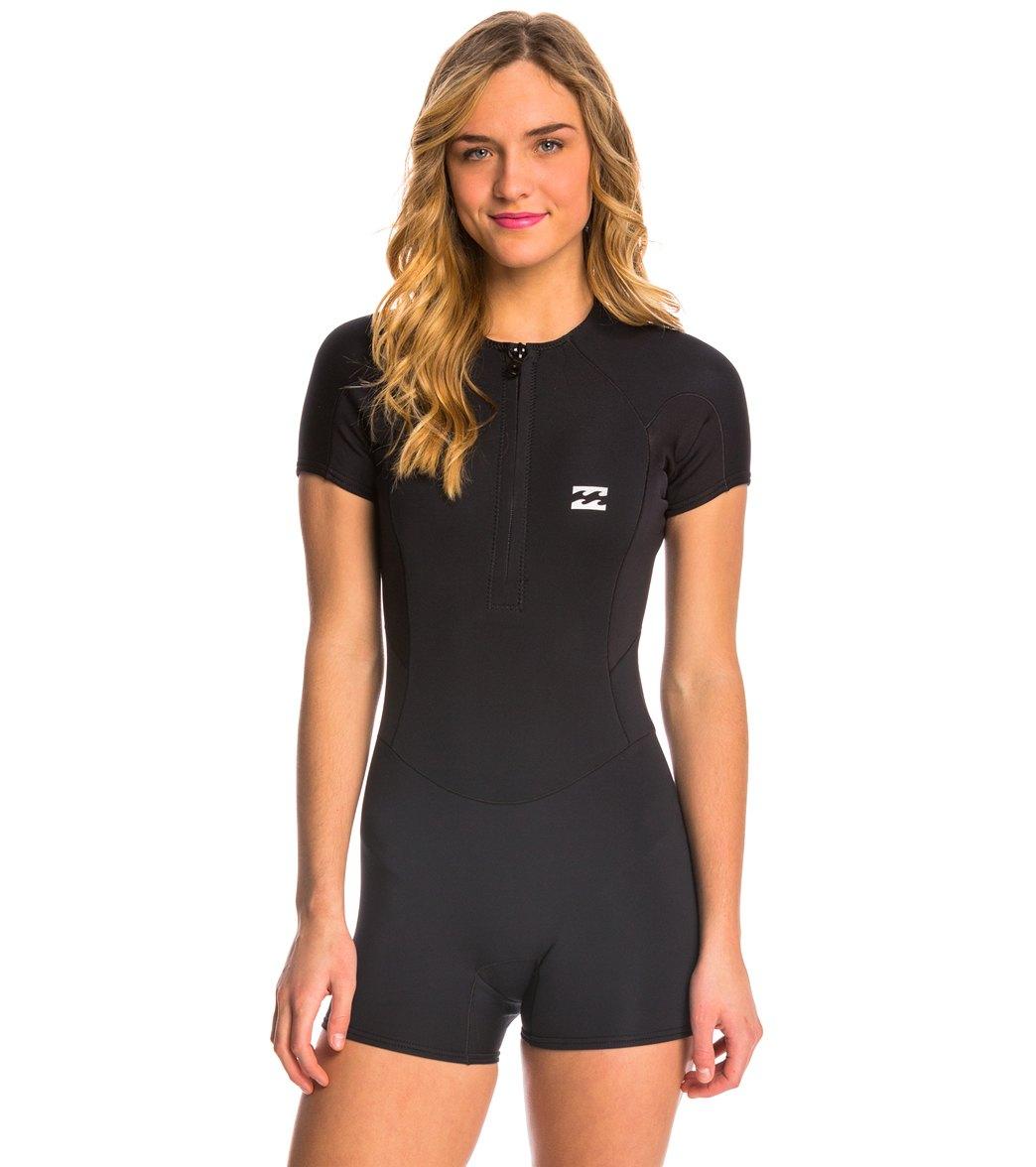 fd188bb6e5 ... Billabong Women s 1mm Synergy Front Zip Cap Sleeve Spring Suit Wetsuit  Play Video. MODEL MEASUREMENTS