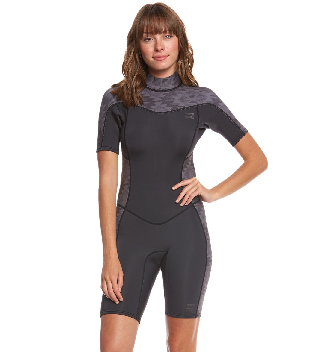 Billabong Women s 2 2mm Synergy Back Zip Spring Suit Wetsuit at ... 895bbb76c