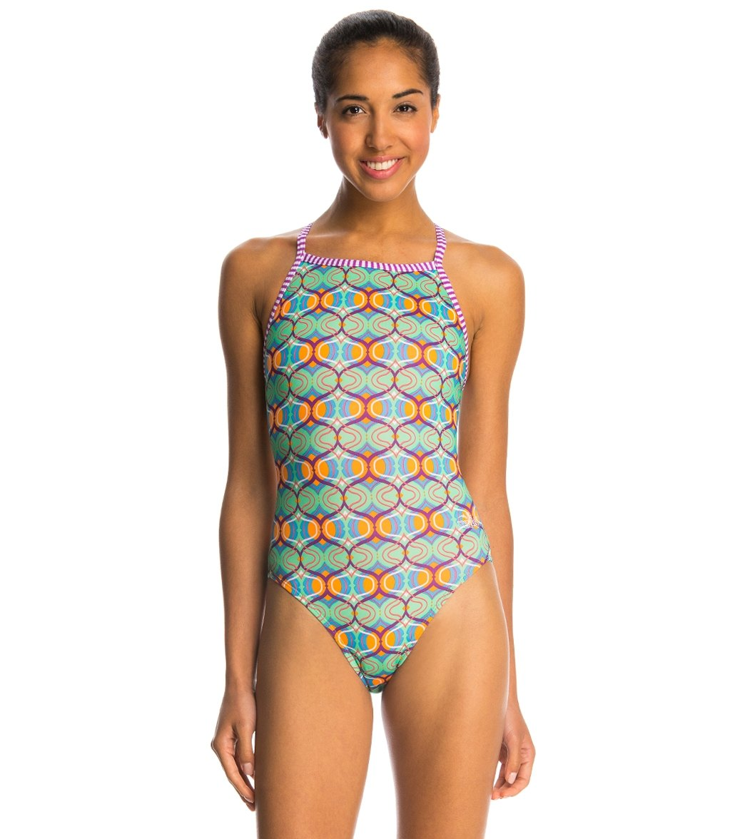 7d4ca138eb Dolfin Uglies Fiesta V-2 Back One Piece Swimsuit at SwimOutlet.com