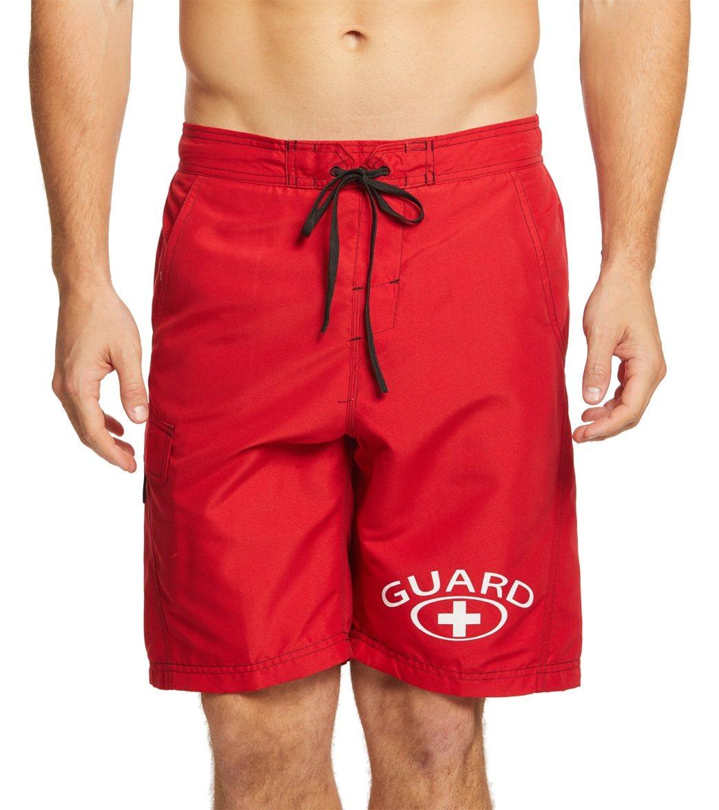 Waterpro Men's Lifeguard Cargo Trunk Swimsuit