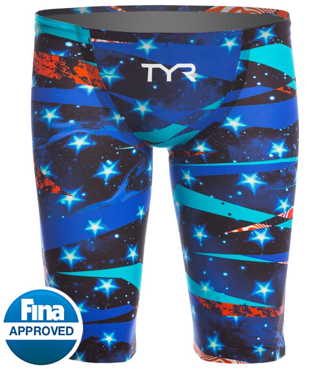 ce947d2533ef TYR Limited Edition Avictor Omaha Nights Male Short Jammer Tech Suit  Swimsuit