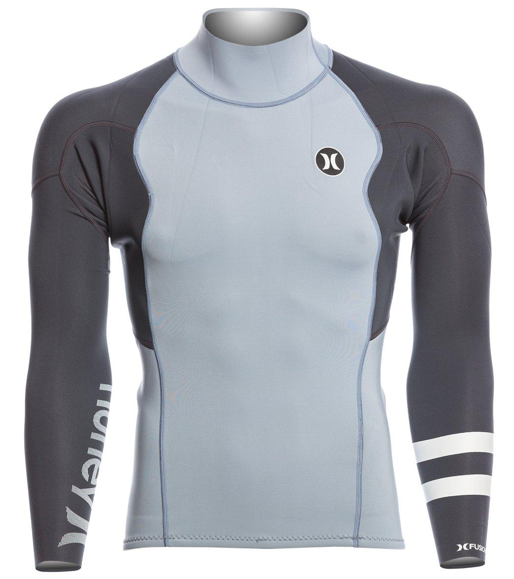 Hurley Men s 1mm Fusion 101 Back Zip Wetsuit Jacket at SwimOutlet ... 5af9c84ff