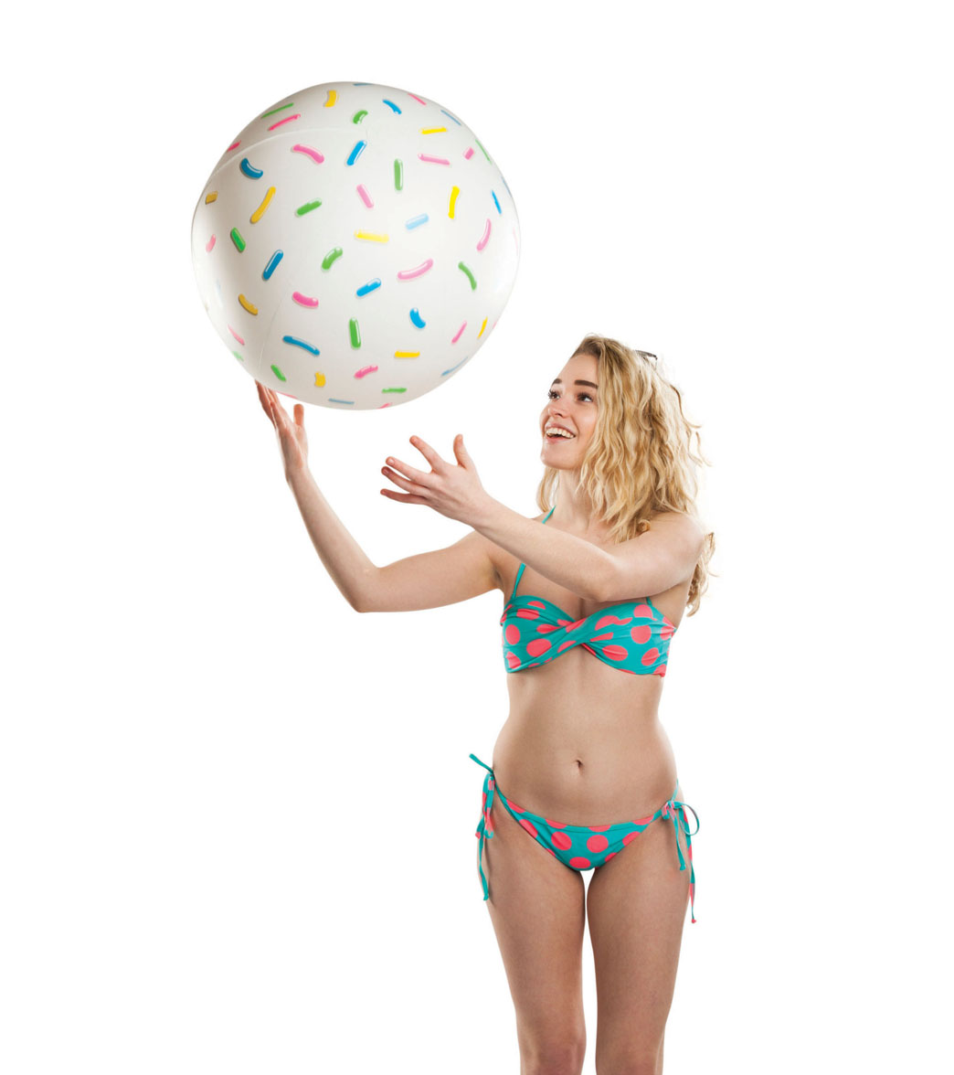 30c0208581 Big Mouth Toys Giant Donut Hole Beach Ball at SwimOutlet.com