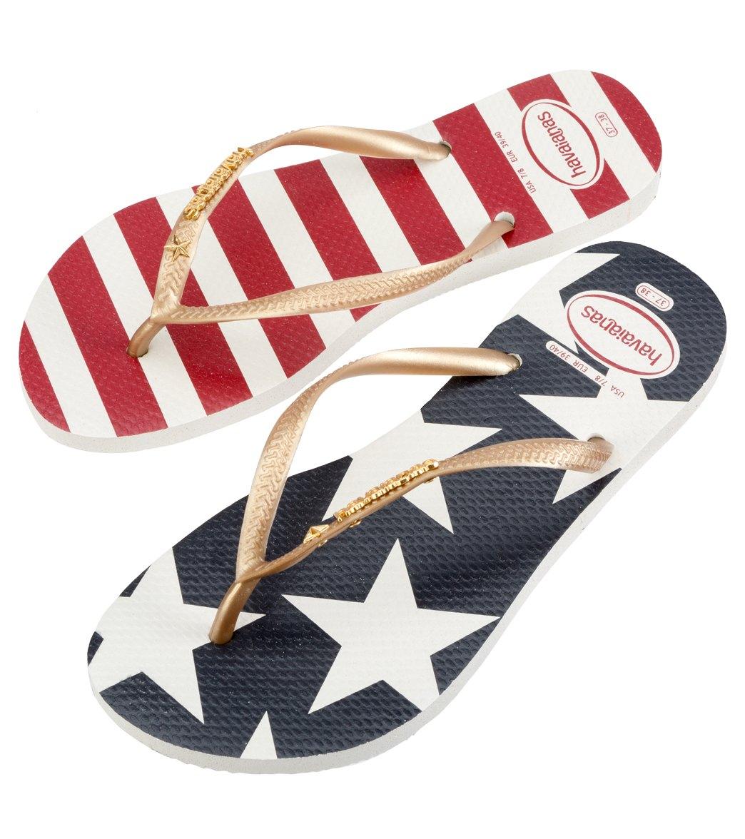 6205e7205 Havaianas Women's Slim Stars and Stripes Flip-Flop