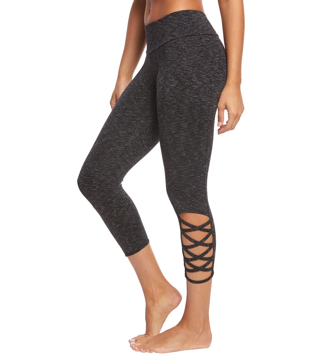 Onzie Weave Yoga Capris at YogaOutlet.com - Free Shipping