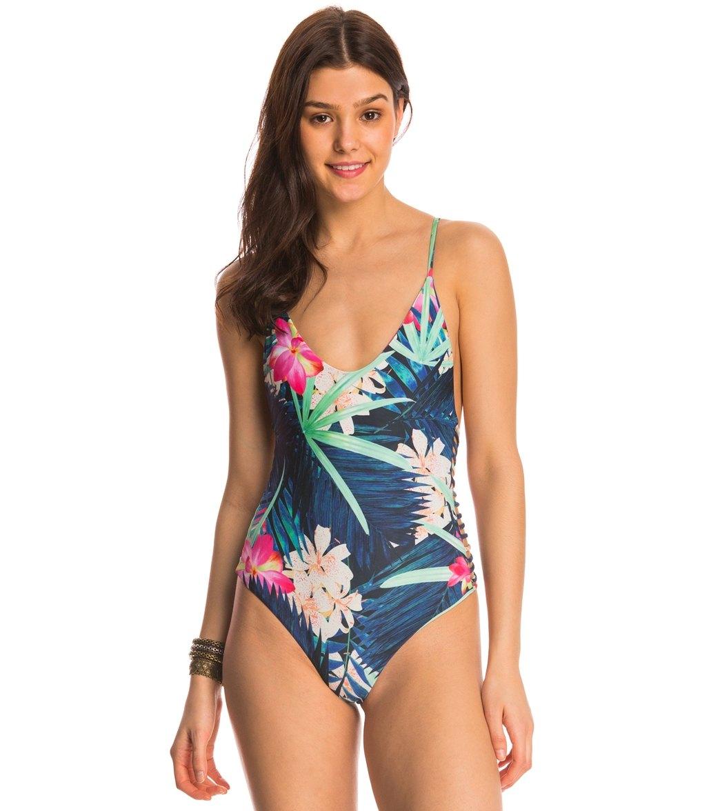 3016b5f27a6 Stone Fox Swim Aloha Daze Hermosa One Piece Swimsuit at ...
