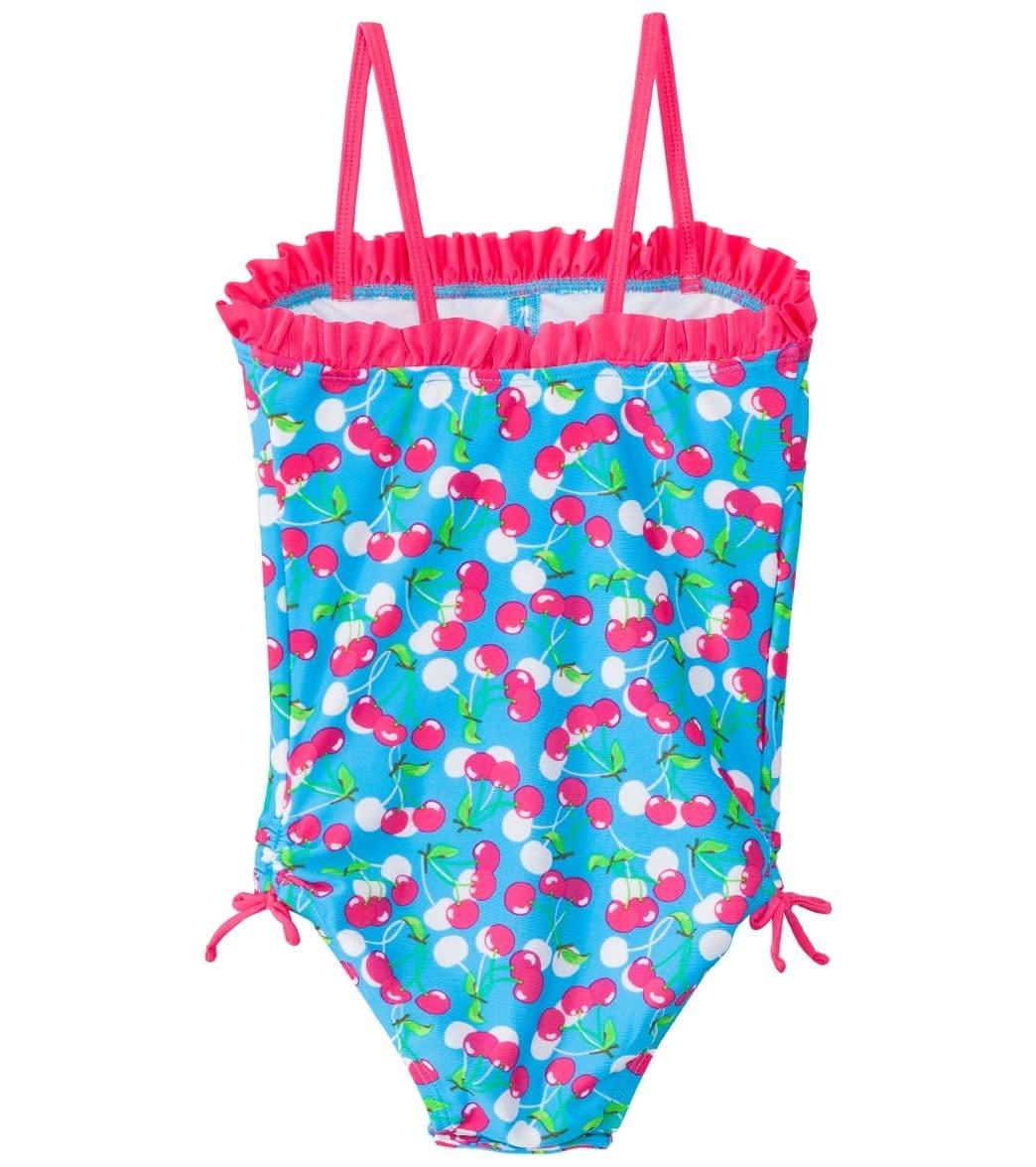 94feb711841ef SnapMe Girls' Very Cherry Ruffle One Piece Swimsuit UVP 50+ (6mos-8yrs